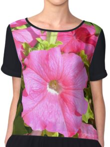 Pink flowers bush in the garden. Chiffon Top