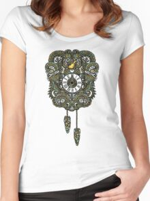 Cuckoo Clock Nest Women's Fitted Scoop T-Shirt