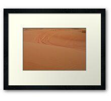 Sand dunes in the desert. Framed Print