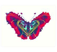 Neon Butterfly Art Print