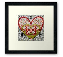 Retro Hearts Framed Print
