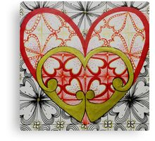 Retro Hearts Canvas Print