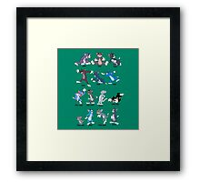 The Evolution Of Jerry The Cat Framed Print