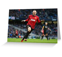 Wayne Rooney - The Captain Greeting Card