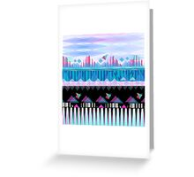 Modern Eclectic Tribal Print Greeting Card