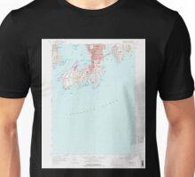 USGS TOPO Map Rhode Island RI Newport 353324 1957 24000 Unisex T-Shirt
