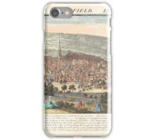 The east prospect of Sheffield in the County of York, 1745 iPhone Case/Skin