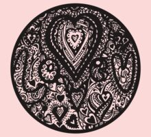 Valentine Circle of Hearts Aussie Tangle Transparent One Piece - Short Sleeve