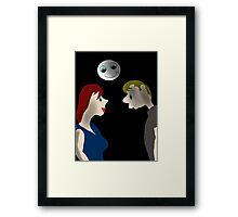Moon smile Framed Print