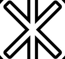 Odin's Protection No.2 (black) Sticker