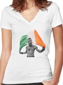 Conor McGregor UFC Fighter Irish Women's Fitted V-Neck T-Shirt