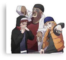 Naruto, Killer B and Gaara Canvas Print