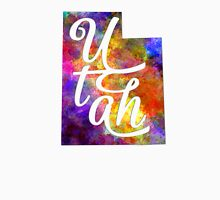 Utah US State in watercolor text cut out T-Shirt