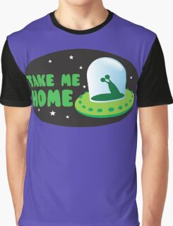 Take me HOME with cute Alien spacecraft Graphic T-Shirt