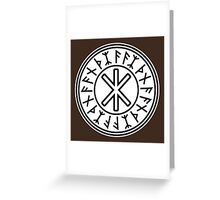 Odin's Protection No.2 (black white) Greeting Card