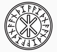 Odin's Protection No.2 (black white) Kids Tee