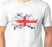 UK Union Jack Paint Splat Flag Unisex T-Shirt