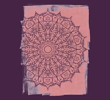 Grunge Mandala Womens Fitted T-Shirt