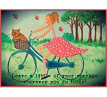 Leave a little of your sparkle Photographic Print