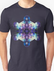 Metatron's Cube blue T-Shirt