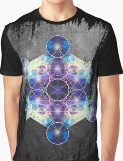 Metatron's Cube blue Graphic T-Shirt