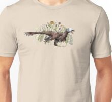 Velociraptor and plant life Unisex T-Shirt