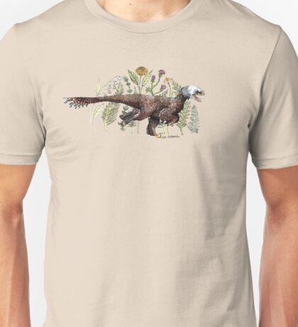 Velociraptor and plant life Unisex T-Shirt