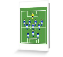 Football team in blue  Greeting Card