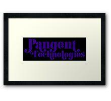 Pangent Technologies (Black) Framed Print