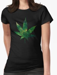 420 Green Womens Fitted T-Shirt
