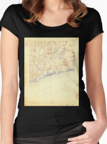 USGS TOPO Map Rhode Island RI Charlestown 353488 1889 62500 Women's Fitted Scoop T-Shirt