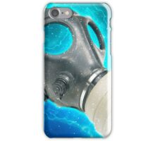 Digitally enhanced Gas Mask elevated side view  iPhone Case/Skin