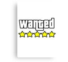 Grand Theft Auto - Wanted Canvas Print