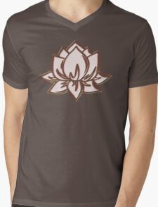 Lotus Flower Symbol Wisdom & Enlightenment Buddhism Zen Mens V-Neck T-Shirt