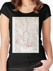 USGS TOPO Map Connecticut CT Norwalk North 330967 1943 31680 Women's Fitted Scoop T-Shirt