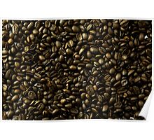 coffee beans in bulk a soft light  Poster
