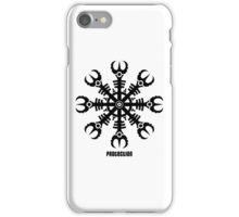 Helmet of awe - Aegishjalmur No.2 (black) iPhone Case/Skin