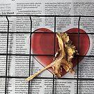random leaf, basket, newspaper. by geof