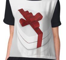 one white gift box  Chiffon Top