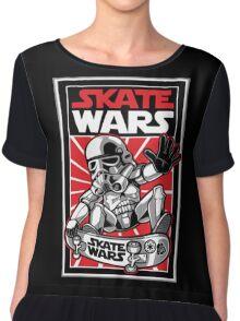 Wars Skateboard Chiffon Top