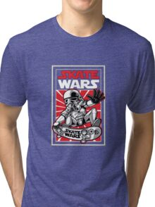 Wars Skateboard Tri-blend T-Shirt