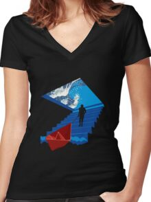 BOATING DREAM Women's Fitted V-Neck T-Shirt