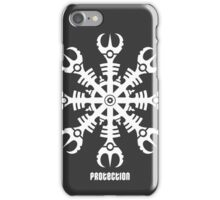 Helmet of awe - Aegishjalmur No.2 (white) iPhone Case/Skin