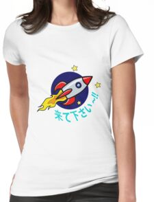 Follow Me~!! Cute Rocket Design Womens Fitted T-Shirt