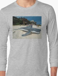 Beached Submarine Life @ Sculptures By The Sea Long Sleeve T-Shirt