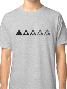 Sierpinski, Triangle, Mathematics, Fractal, Math, Geometry Classic T-Shirt