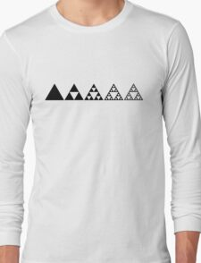 Sierpinski, Triangle, Mathematics, Fractal, Math, Geometry Long Sleeve T-Shirt