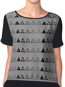Sierpinski, Triangle, Mathematics, Fractal, Math, Geometry Chiffon Top