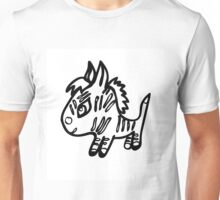 the little Zebra is made with black lines Unisex T-Shirt