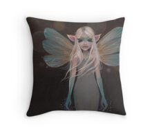 Firefly Faerie Throw Pillow